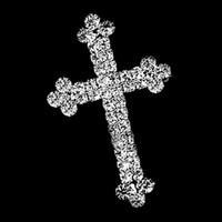 placas de fé venda por atacado-Frete grátis ! 2.1 Polegada Sparkly Banhado A Prata CZ Strass Cristal Diamante Fé Strass Cruz Broches e Pinos