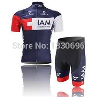 Wholesale Iam Cycling - HOT ITEMS Can be mixed size factory IAM team Jersey cycling jersey short sleeve Cycling wear + bib shorts sets -14h Free shipping