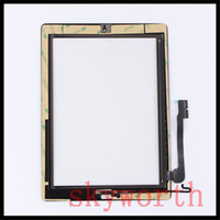 Wholesale Ipad Mini Touch Panel - for iPad 2 3 4 mini Touch Screen Glass Panel with Digitizer home Button Adhesive Black and White