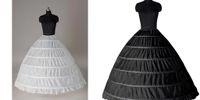 gelin kıyafeti altından toptan satış-Süper Ucuz Balo 6 Çemberler Petticoat Düğün Kayma Kabarık Etek Gelin Jüpon Döşeme Kayma 6 Hoop Etek Kabarık Etek Quinceanera Elbise Için