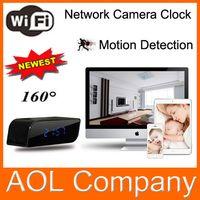 Wholesale Camaras Ip Mini - Wifi Hidden Alarm Clock P2P Fake IP Camera HD 720P Mini Camaras Video DVR Recorder Cycle Recording Motion Detection IR LED DHL FREE