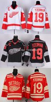 Wholesale China Factory Outlets - Factory Outlet, Cheap Detroit Red Wings Jersey 19 Steve Yzerman Jersey New Red Wholesale Third Black Ice Hockey Jerseys China
