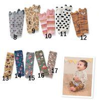 rodilla bebé calcetines para niño al por mayor-2015 calcetines de dibujos animados para niños Baby Boys Girls niño calentadores de la pierna de rayas calentadores de la pierna del bebé calcetines hasta la rodilla de algodón de la pierna más caliente envío libre