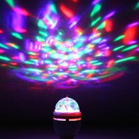 Gros-2015 NOUVEAU 3W LED Interface USB RGB Color LED Portable Accueil Disco DJ Party cristal de scène Auto Rotating Ampoule LED Lamp