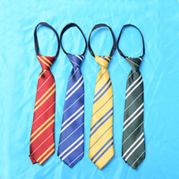 Wholesale Harry Potter Striped Tie - Kids Harry Potter Ties Hogwarts Gryffindor Slytherin Ravenclaw Hufflepuff Zipper Striped Necktie Cosplay Gift for Children