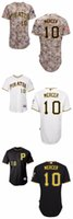 Wholesale Embroidered Shirt Free Shipping - 2016 New Pittsburgh Pirates 10 Jordy Mercer Baseball Jersey 2015 Men Personalized Embroidered Stitched Shirt Wholesale Free Shipping