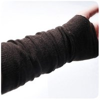 Wholesale Long Fingerless Gloves Girls - Wholesale-2015 new 2 pcs Sweet fashion woman lady's girl long arm fingerless warmers 3 colors for choose 1 pair