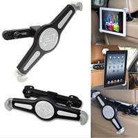 ipad hava tutacağı ayak aparatı toptan satış-Araba Arka Koltuk Kafalık Dağı Tablet Tutucu Standı ile 360 Derece Dönen Seyahat Kiti ipad için Pro 9.7 için ipad Hava 2