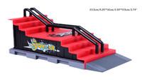 Wholesale Toy Ramps - Wholesale-Mini Ramp Finger skatepark Tech-Deck Skate Park skateboard site platform Includes 1 Finger Board child's toy,F123