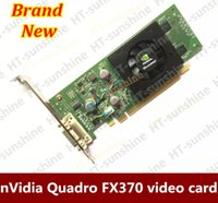 Wholesale Nvidia Quadro Card - Wholesale-100% Original nVidia Quadro FX370 LP 256M PCI-E DMS 59 Professional Graphic Video Card Warranty 1years Free shipping