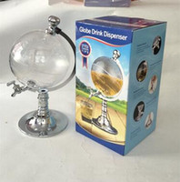 Wholesale Novelty Beer Glasses - Novelty Globe Shaped Beverage Liquor Dispenser Drink Wine Beer Pump Single Canister Pump Bar Tools CCA8001 12pcs