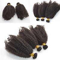 6'lı saç uzatma toptan satış-6 adet Brezilyalı Sapıkça Kıvırcık Saç Örgü Demetleri 100% Bakire Saç Uzantıları Brezilyalı afro Kıvırcık Saç Atkı G-EASY