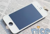 iphone 5c beyaz toptan satış-Stokta iPhone 5 S 5C 5G Orijinal iPhone 5 LCD Dokunmatik Ekran iPhone LCD Tam Set Meclisi Beyaz ve Siyah Renk