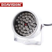 iluminador infrarrojo para cctv al por mayor-48 LED iluminador luz CCTV IR visión nocturna por infrarrojos para cámara de vigilancia