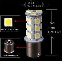 Wholesale 18 Smd 1156 Led Lights - 10pcs 1156 car light Car RV Trailer White 1156 BA15S 5050 18-SMD LED Light Bulb 7503 1141 1073