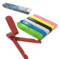 tabletler için ayarlanabilir katlanabilir sehpa toptan satış-Evrensel Taşınabilir Ayarlanabilir Katlama Standı Tutucu iPad Mini Hava Samsung Galaxy Tab Tablet PC için Kindle
