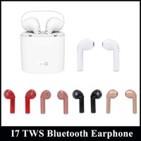 1pc Venda TWS I7S Twins Earbud Mini auscultadores Bluetooth com caixa de carregamento Wireless Invisible Stereo Earphone para Iphone 8