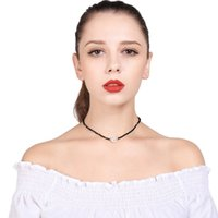 Wholesale Imitation Pearl Beads Strings - European style handmade string beads exaggerated pearls women's chokers necklaces fashion short link chain necklaces jewelry accessories