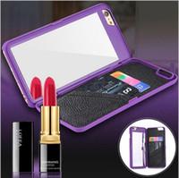 Wholesale Hard Case Iphone Elegant - Luxury Korean Style Fashion Girl Mirror Elegant Hard Plastic Case For iPhone 7 6 6S Plus 4.7 5.5 inch 5 5S Galaxy S7 Edge Free DHL MOQ:100pc