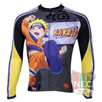 Wholesale Cycling One Piece - Wholesale-Jap. Cartoon One Piece Naruto Long Sleeve Cycling Jersey Quick Dry cycling clothing maillot quality ciclo jersey Bike outfit
