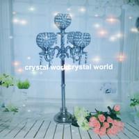 Wholesale Candle Hurricane Wholesale - elegant tall Crystal hurricane 09wedding candelabra Antique candelabra for wedding Hurricane candelabra