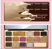 16 lidschatten großhandel-Neueste konfrontiert Chocolate Gold Bar Metallic Matte 16 Farben Lidschatten-Palette Make-up und hohe Qualität Freies Verschiffen