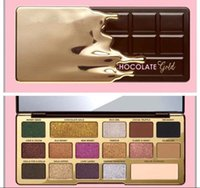 Wholesale Gold Bar Chocolate - Newest faced Chocolate Gold Bar Metallic Matte 16 colors Eyeshadow Palette Makeup and High Quality Free Shipping