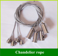 Wholesale Chandelier wire rope Panel Lights Accessories Hanging Steel Wire DIY Lighting wire hangers with mm long100PCS