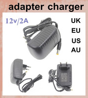 Wholesale 12 Volt Ac Adapter - ac dc Electronics usb charger adapter 2A 12 volt battery charger power supply for 5050 3528 led strips light dhl free shipping DY001