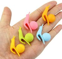 Wholesale tea cupping resale online - Hot Dining Random Color Cute Snail Shape Silicone Tea Bag Holder Cup Mug Candy Colors Gift Set GOOD