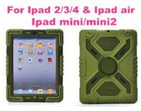 apple tablets water case achat en gros de-Support pour tablette PC Pepkoo Defender Military Spider Stand Eau / saleté / choc Housse de protection Housse Ipad 2 3 4 iPad Air 5 iPad Mini Retina.