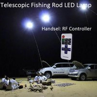 Wholesale Outdoor Ir Lamp - 12V Telescopic LED Fishing Rod Outdoor Lantern Camping Lamp Lights White with IR Remote