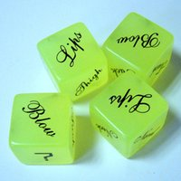 Wholesale Sexual Dice - Adult Toys Flirting Couples Sexual Foreplay Noctilucent Pose Provocatively Position Dice