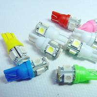 ingrosso 158 lampadina rossa-Prezzo di fabbrica !!! T10 Led 100pcs 5050 5 smd Lampada targa auto luce laterale auto cuneo lampadina 5 LED larghezza lampada 5smd