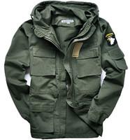veste militaire m65 achat en gros de-M65 style militaire vestes pour hommes manteau pilote usa armée 101 air force bombardier veste extérieure