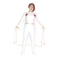 Wholesale Storm Costumes - Free shipping X-men White Storm Woman Superhero Costume Halloween Party Cosplay Sexy Costumes Catsuit Zentai Suit