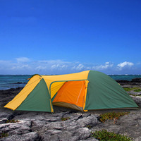 Wholesale backpacking tents sale - Wholesale- 2017 Hot sale 3-4 person 2 Layer Waterproof Huge Hiking Travel Beach Fishing Party Family Park Cycling Outdoor Camping Tent
