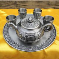 Wholesale Tin Tea Sets - Tin, business gifts, handicrafts, Russia tin tea set, , practical, tin box, wine pot, tea boxes, tea POTS