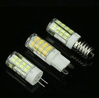 Wholesale G9 Led Ceramic - High Brightness Ceramic AC110V 220V E14 E12 G9 G4 4W LED Bulb Lamp Mini Corn Light 51 SMD 2835 Chip