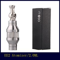 Wholesale Ee2 Coils - EE2 Skull Drip Tip Atomizer Metal Drip Tip Replaceable Coil Head Clearomizer for 510 eGo E Cigarette