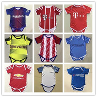 Wholesale Girls City Shorts - 1718 baby Jersey 1-2 years old Baby Jersey 1718 Germany Spain England Man city Little shirt Boys Girls Football Small 6-8 month