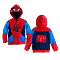 Jackets spiderman jacket for boys - Autumn And Winter New Fashion Children Spider Man Coat For Boys Jacket Spiderman Outerwear Kids Hoodies
