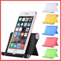 tischplatten-tischständer großhandel-Faltbarer Handy-Ständer mit drei Farben für den Desktop Tablet PC Universal-Stent tragbarer, fauler Stent Holder Small Gifts