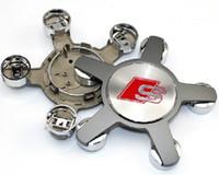 Wholesale audi wheel center hub cap resale online - 4pcs mm S line Wheel Center Caps Badge for A3 A4 A5 A6 A8 S6 S8 Q5 Q7 TT Sline Wheel Centre Hub Cap S line Emblem