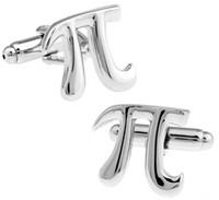 Wholesale Pi Jewelry - High Quality Mathematical symbol PI cufflinks for men shirt Wedding Cufflink French Cuff Links Fashion Jewelry Best Gift Cufflinks C099