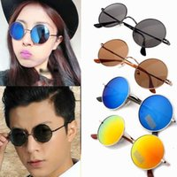 Wholesale Fashion Hippies - TOP Fashion Hippie Shades Hippy 60s John Lennon Style Vintage Round Sunglasses Fancy Dress