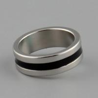 starker magnetischer magischer ring großhandel-Großhandels-heiße neue starke magnetische magische Ringfarbe Silber + schwarzer Finger-Magier-Trick-Props-Werkzeug-Innendurchmesser 20mm Größe L