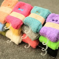 Wholesale Beautiful Socks - Warm Fuzzy Socks with Beautiful Embroidery Design for Ladies Winter Socks