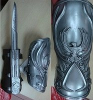 NECA Assassin's Creed Hidden Blade Hermandad Ezio Auditore Gauntlet Replica Cosplay Papel de juego aderezo Regalo de Navidad con caja original