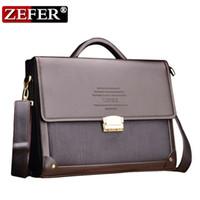 Wholesale Laptop Shoulder Bag 16 - ZEFER Men Leather Business Password Briefcase Shoulder Bag Messenger Handbag cross body bag briefcase Laptop bag AZ032-16